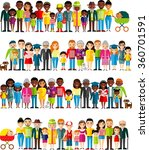 all age group of african... | Shutterstock .eps vector #360701591