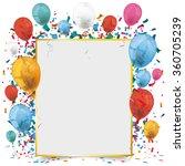golden frame banner with... | Shutterstock .eps vector #360705239