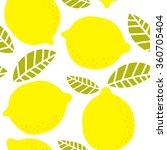 Yellow Lemon Seamless Background