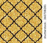 Golden Tile Glitter Background...