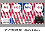 set of modern gift voucher... | Shutterstock .eps vector #360711617
