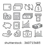 money line icons | Shutterstock .eps vector #360715685