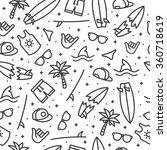black surfing pattern on white...   Shutterstock .eps vector #360718619