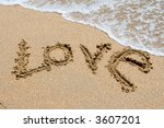 I Love You Written In The Sand...
