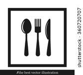fork spoon knife | Shutterstock .eps vector #360720707
