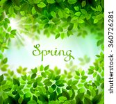 written word spring. season... | Shutterstock .eps vector #360726281
