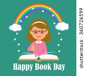 happy book day. the concept of... | Shutterstock .eps vector #360726599