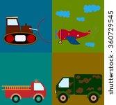 vector illustration plane ... | Shutterstock .eps vector #360729545