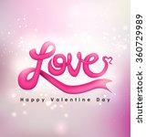 love typography vector design... | Shutterstock .eps vector #360729989