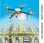concept for drone shooting....   Shutterstock .eps vector #360730361