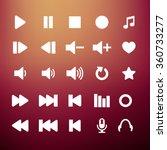 player icon set vector | Shutterstock .eps vector #360733277