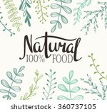 eco card with plants and... | Shutterstock .eps vector #360737105