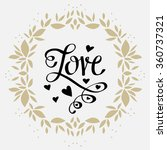 holiday valentines day card...   Shutterstock .eps vector #360737321