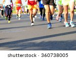 unidentified marathon athletes... | Shutterstock . vector #360738005