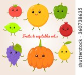 vector set of flat cartoon... | Shutterstock .eps vector #360738635