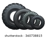 tire for truck or tractor side... | Shutterstock .eps vector #360738815