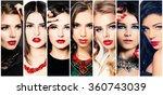 women. beauty collage. fashion... | Shutterstock . vector #360743039