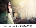 glamorous woman in palace... | Shutterstock . vector #360743531