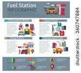 gas station infographic set... | Shutterstock .eps vector #360747884