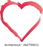 grunge love heart . | Shutterstock .eps vector #360750011