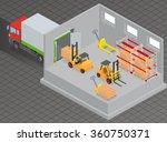 loading or unloading a truck in ...   Shutterstock .eps vector #360750371