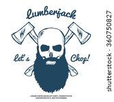 Lumberjack Skull With Bears An...