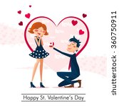 happy valentines's day | Shutterstock .eps vector #360750911