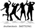 dancing people silhouettes. | Shutterstock .eps vector #360751961