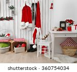 interior of santa claus home on ... | Shutterstock . vector #360754034