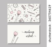 makeup artist business card.... | Shutterstock .eps vector #360754619