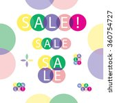 sale bubbles | Shutterstock .eps vector #360754727