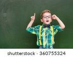 surprised boy stands near empty ... | Shutterstock . vector #360755324