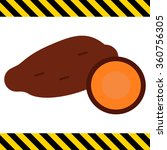 yam tubers icon | Shutterstock .eps vector #360756305
