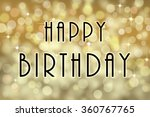 happy birthday text card with... | Shutterstock . vector #360767765