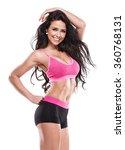 posing fitness sexy woman...   Shutterstock . vector #360768131