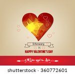 romantic geometrical heart...   Shutterstock . vector #360772601