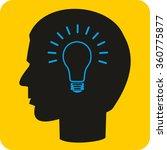 vector icon of bulb concept ... | Shutterstock .eps vector #360775877
