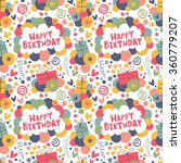 celebratory pattern with bright ... | Shutterstock .eps vector #360779207