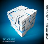 design element. 3d cube with... | Shutterstock .eps vector #360780509