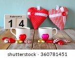 february 14th wooden vintage... | Shutterstock . vector #360781451
