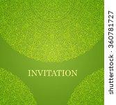 elegant greeting card design.... | Shutterstock .eps vector #360781727