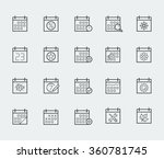 vector calendar icon set in... | Shutterstock .eps vector #360781745