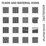 floor and material vector icons ... | Shutterstock .eps vector #360785009