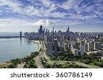Chicago Skyline Aerial View...