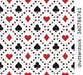 seamless pattern with poker... | Shutterstock .eps vector #360786761