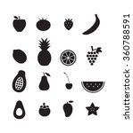 fruit icons | Shutterstock .eps vector #360788591