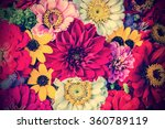 Stock photo different flowers bouqet outdoor 360789119