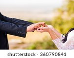 beautiful couple holding hands | Shutterstock . vector #360790841