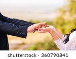 beautiful couple holding hands | Shutterstock . vector #360790841