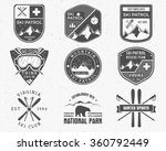 outdoors camp stamp vector... | Shutterstock .eps vector #360792449